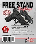Pistol Free-Stand Display - 10 Pack