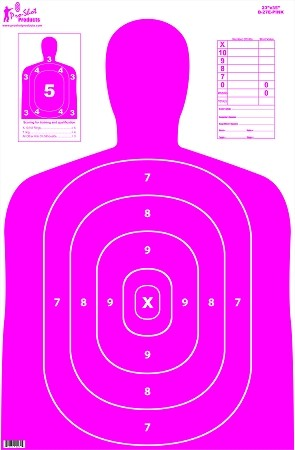"23"" x 35"" B27 Silhouette Target- Pink - 5 Pack"