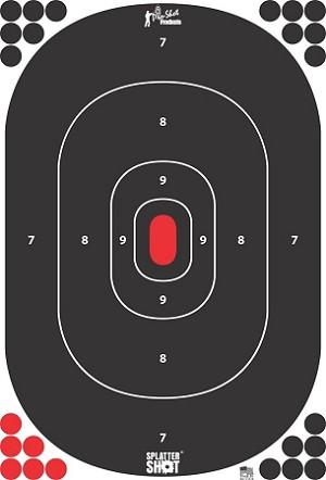 "12"" x 17"" Silhouette Target - Peel & Stick - 12 Pack"